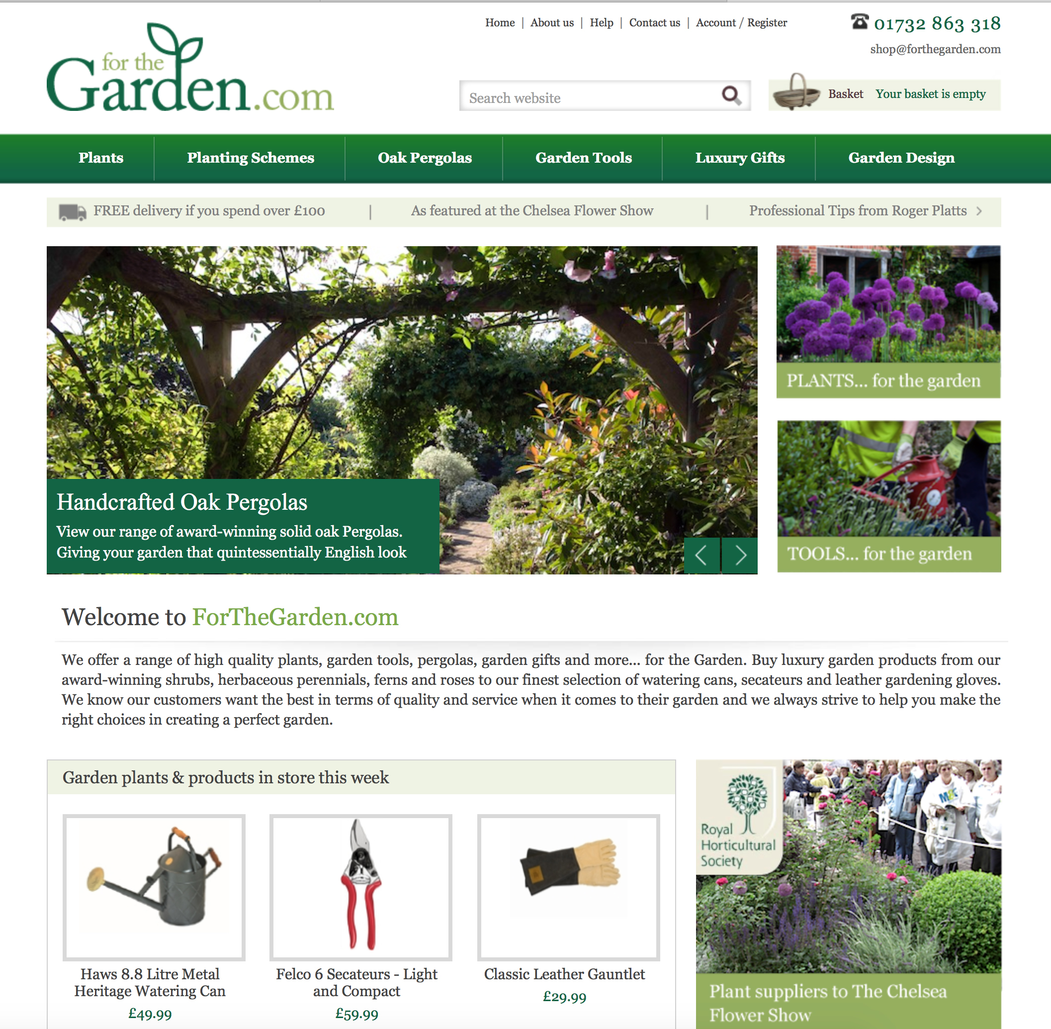 Adrenesign Were Consulted By For The Garden.com In Order To Produce A  Bespoke ECommerce Website Which Has Been Built On The Volusion Platform.