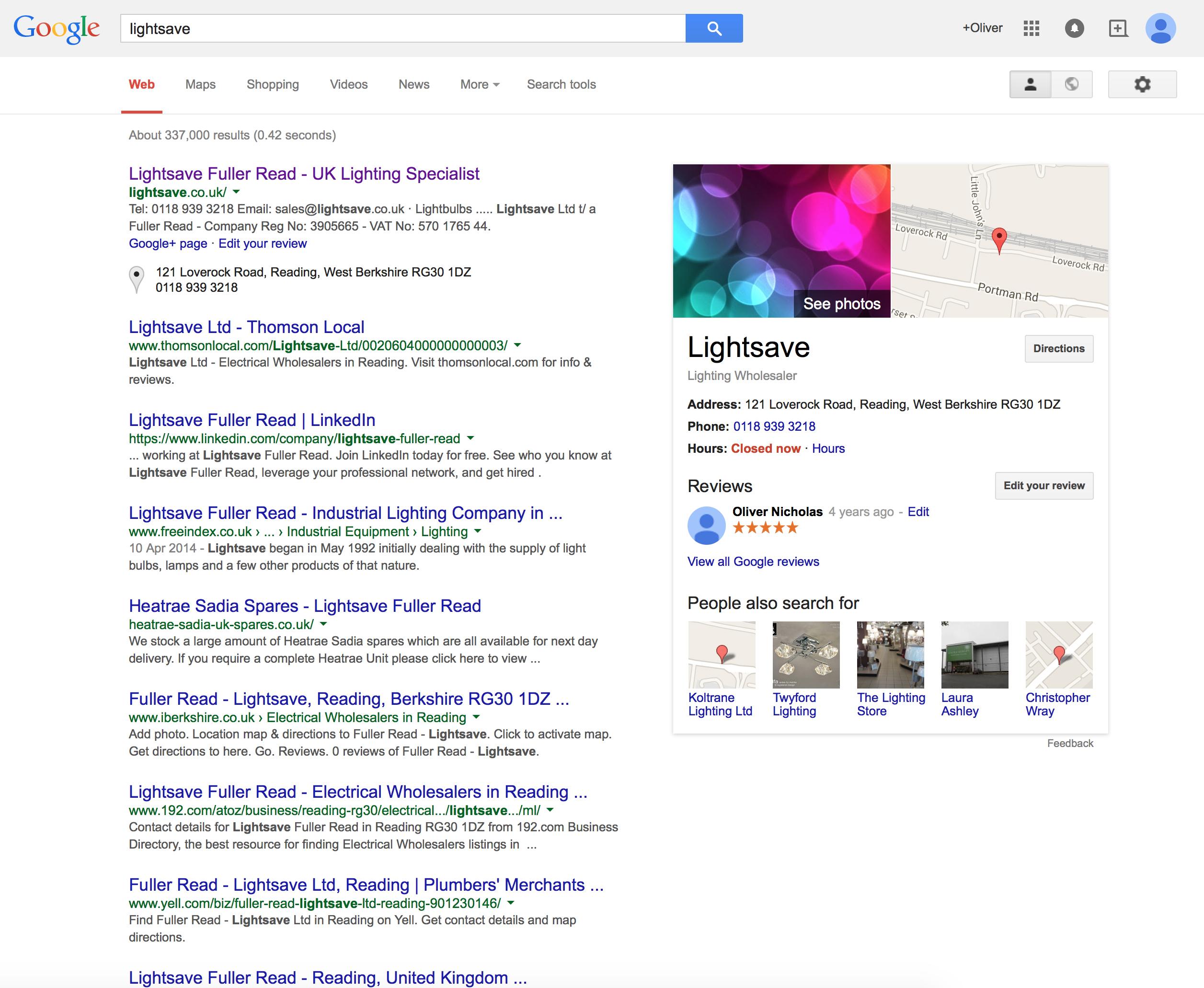 lightsave-google-search